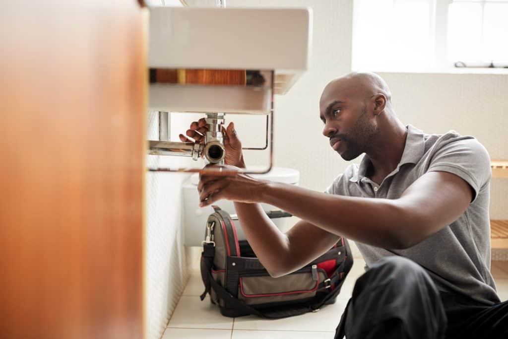 stock image plumber